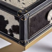Carly Animal Print  Low Side Table Or Bedside Table Hotel Boutique